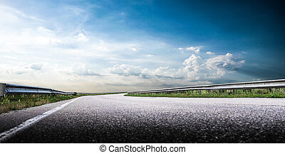Beautiful highway road