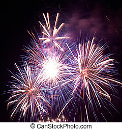 Beautiful holiday fireworks - Beautiful colorful holiday ...