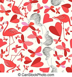 Beautiful holiday pattern for the Day of all lovers with...