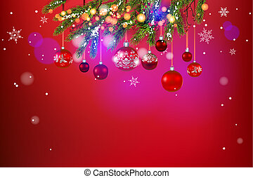 Beautiful holiday template - Red festive background template...