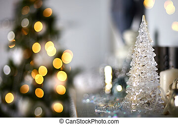 Beautiful home decor with a Christmas ball.