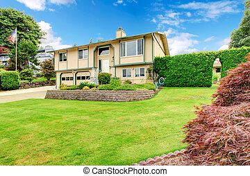Beautiful home with large yard.