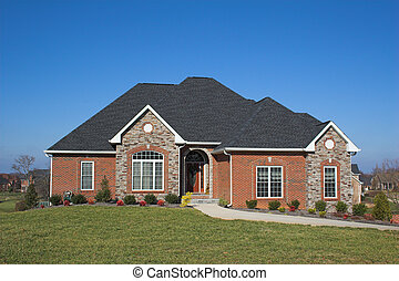 Beautiful homes series b16 - Blue skies, beautiful home in...