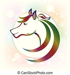 Beautiful horse logo