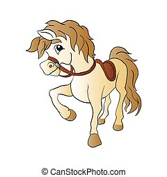 Beautiful horse vector illustration