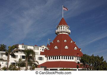 Beautiful Hotel Del Coronado in San Diego California.