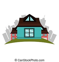 beautiful house exterior icon