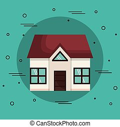 Beautiful house icon