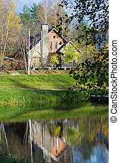 Beautiful house on a lake