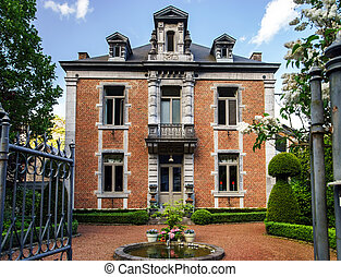 Beautiful house with fountain in Dinant