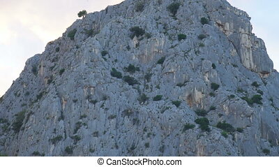 Beautiful huge mountain hills in Omis, Croatia.