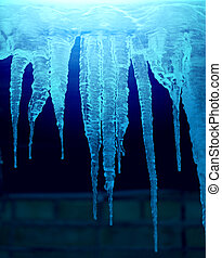Beautiful icicles photographed