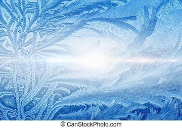 Beautiful icy pattern