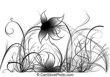 Beautiful illustrated flower background design