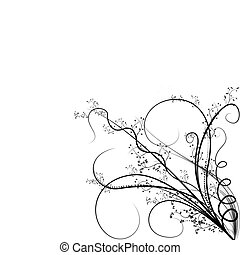 Beautiful illustrated flower background design with space for your text