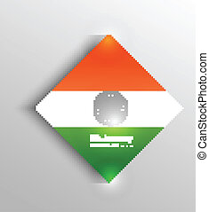 beautiful indian flag background colorful vector