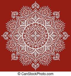 Beautiful Indian floral mandala ornament
