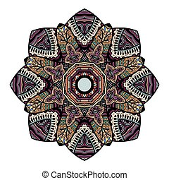 Beautiful Indian floral ornament. Ethnic Mandala. Henna tattoo style. hand drawn design