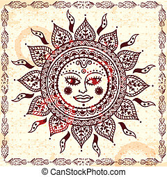 Beautiful Indian floral ornament