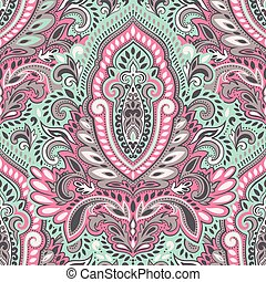 Beautiful Indian floral seamless pattern
