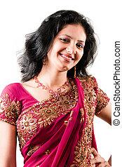 Beautiful Indian happy woman