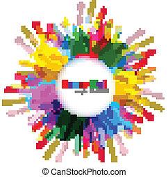 Beautiful indian holi colorful card celebration background illustration vector