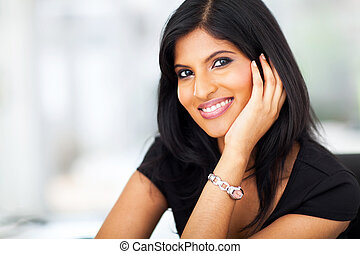 beautiful indian white collar worker - beautiful female...
