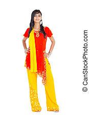 beautiful indian woman full length
