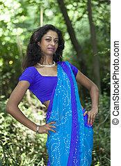 beautiful indian woman in a saree