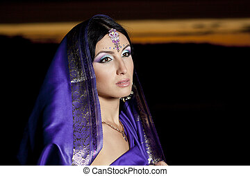 Beautiful indian woman with traditional fashion