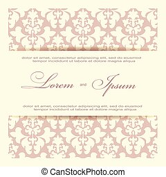 invitation card - Beautiful invitation card with seamless...
