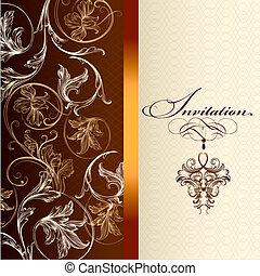 Beautiful invitation  design in elegant style