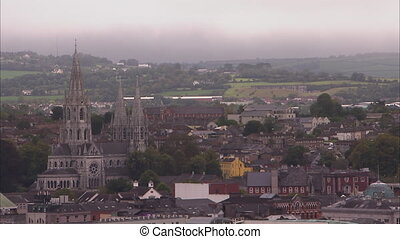 Beautiful Ireland city - A steady scenic shot of a city in...