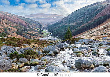 Beautiful irish landscape in Wicklow mountains - Photo of...