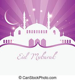 beautiful islamic festival season background