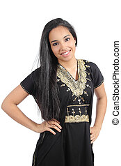 Beautiful islamic woman posing with a traditional hijab