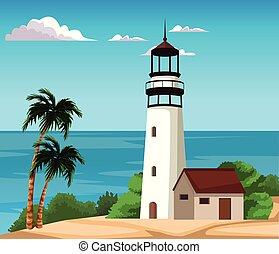 Beautiful island cartoon