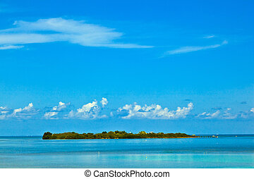 beautiful island in the Florida keys with lighthouse