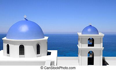 Beautiful island of Santorini in Greece