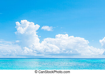 Beautiful island and sea with tropical beach landscape -...
