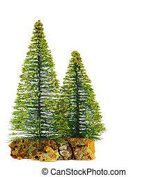 Beautiful isolated Christmas tree