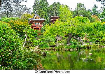 Beautiful Japanese Tea Garden in Golden Gate Park. - ...