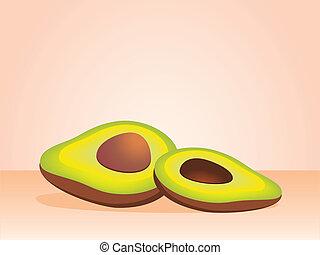 Beautiful juicy avocado against a dark background
