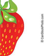 Beautiful juicy strawberry against on a light background