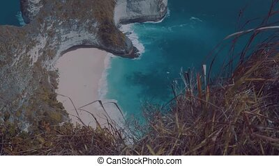 Beautiful Kelingking Beach cliffs in Nusa Penida, Bali,...