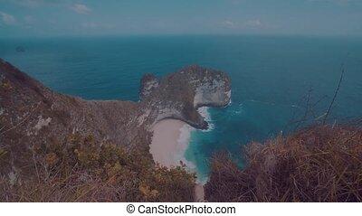 Beautiful Kelingking Beach in Nusa Penida, Bali