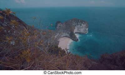 Beautiful Kelingking Beach in Nusa Penida, Bali