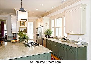 beautiful kitchen - beautiful decorated kitchen with white ...