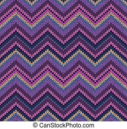 Beautiful Knitted Fabric Pattern - Pink Blue Violet Yellow...