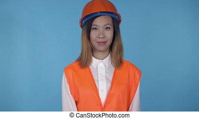beautiful korean female builder